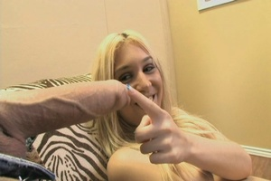 Teen blonde takes big dick into her cooc - XXX Dessert - Picture 9