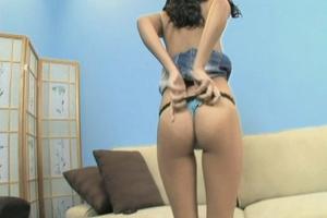 Nasty brunette gets her snatch stretched - XXX Dessert - Picture 5