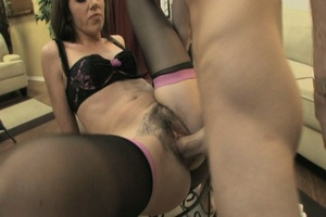 Dirty bitch with a hairy pussy gets it b - XXX Dessert - Picture 1