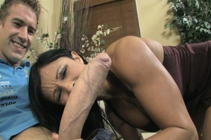 Busty brunette takes heavy facial after  - XXX Dessert - Picture 5