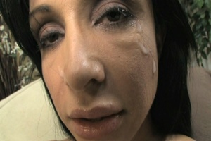 Busty brunette takes heavy facial after  - XXX Dessert - Picture 25