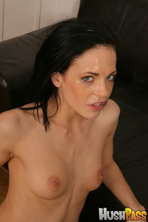 Poor brunette takes a giant cock into he - XXX Dessert - Picture 16