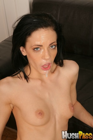 Poor brunette takes a giant cock into he - XXX Dessert - Picture 17