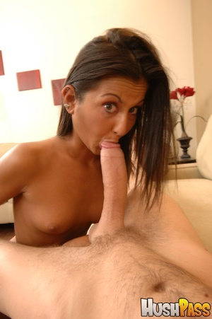 Small-titted brunette takes huge cock in - XXX Dessert - Picture 2