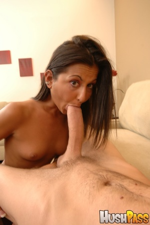 Small-titted brunette takes huge cock in - XXX Dessert - Picture 3