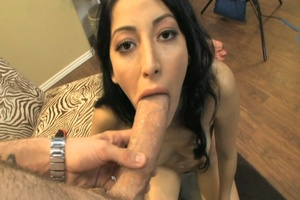 Dirty brunette babe gets fucked hard wit - XXX Dessert - Picture 11