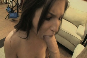 Hot long-haired brunette takes big dick  - XXX Dessert - Picture 20
