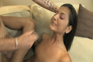 Dirty brunette swallows big dick and the - XXX Dessert - Picture 25
