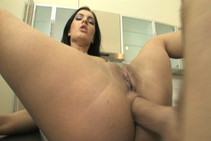 Brunette bitch gets her ass pounded in t - XXX Dessert - Picture 14