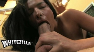 Dirty brunette enjoys swallowing a thick - XXX Dessert - Picture 7