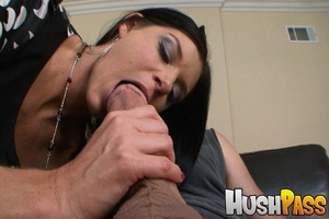 Nasty brunette hottie takes monster cock - XXX Dessert - Picture 5