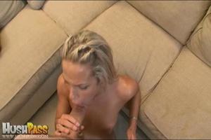 Blonde slut rubbing her cooch prior to s - XXX Dessert - Picture 16