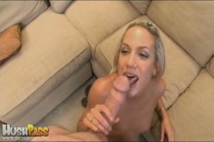 Blonde slut rubbing her cooch prior to s - XXX Dessert - Picture 18