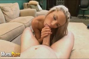 Blonde slut rubbing her cooch prior to s - XXX Dessert - Picture 19