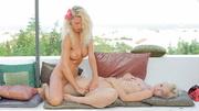 pair teen blonde lesbians