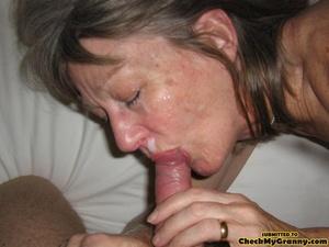 Blonde amateur granny gets her face cum  - XXX Dessert - Picture 5