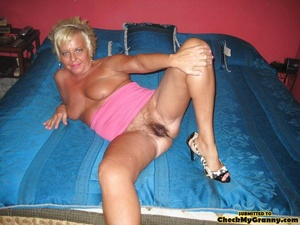 Chubby blonde mature lady in red and bla - XXX Dessert - Picture 13