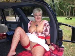 Sex starving granny in fishnet stockings - XXX Dessert - Picture 4