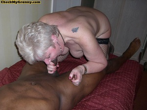 Sex starving granny in fishnet stockings - XXX Dessert - Picture 8