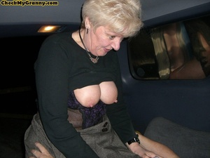 Sex starving granny in fishnet stockings - XXX Dessert - Picture 10