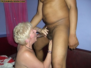 Sex starving granny in fishnet stockings - XXX Dessert - Picture 11