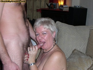 Sex starving granny in fishnet stockings - XXX Dessert - Picture 12
