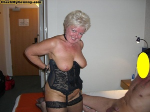 Sex starving granny in fishnet stockings - XXX Dessert - Picture 13