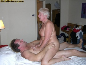 Sex starving granny in fishnet stockings - XXX Dessert - Picture 14