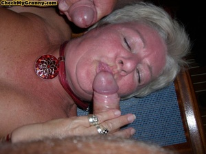Sex starving granny in fishnet stockings - XXX Dessert - Picture 15
