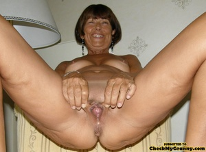 Homemade pics of brunette granny in coat - XXX Dessert - Picture 7