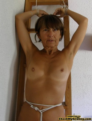Homemade pics of brunette granny in coat - XXX Dessert - Picture 11