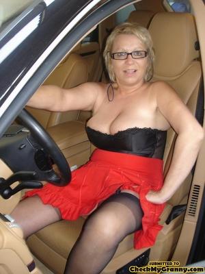 Blonde granny in black lingerie slowly g - XXX Dessert - Picture 2