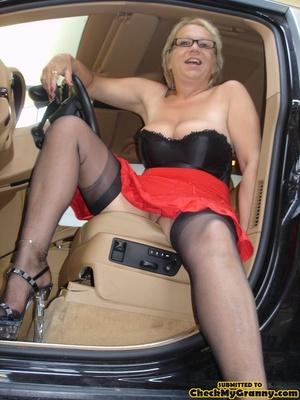 Blonde granny in black lingerie slowly g - XXX Dessert - Picture 5