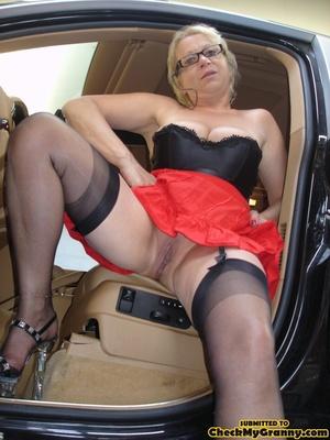 Blonde granny in black lingerie slowly g - XXX Dessert - Picture 6