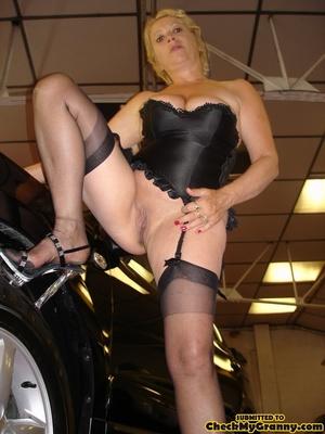 Blonde granny in black lingerie slowly g - XXX Dessert - Picture 12