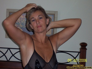 Cum hungry blonde granny in sexy black l - XXX Dessert - Picture 8