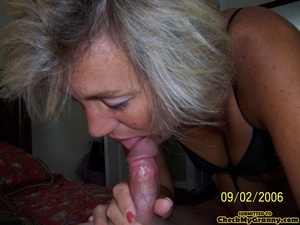 Cum hungry blonde granny in sexy black l - XXX Dessert - Picture 14
