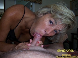 Cum hungry blonde granny in sexy black l - XXX Dessert - Picture 15