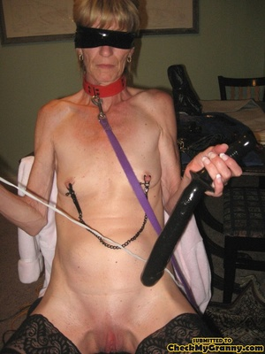 Bondaged mature granny in black stocking - XXX Dessert - Picture 1