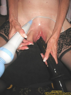Bondaged mature granny in black stocking - XXX Dessert - Picture 2