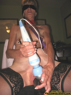 Bondaged mature granny in black stocking - XXX Dessert - Picture 3