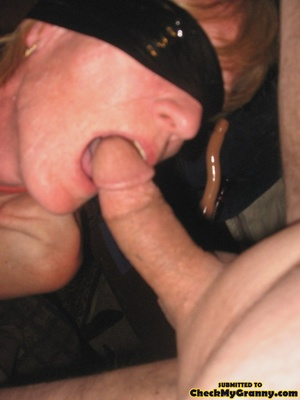 Bondaged mature granny in black stocking - XXX Dessert - Picture 4