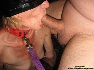 Bondaged mature granny in black stocking - XXX Dessert - Picture 7