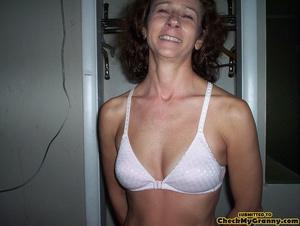 Amateur mature brunette chick stripping  - XXX Dessert - Picture 3