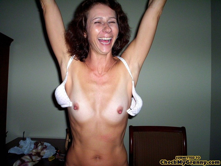 Mature wife stripping