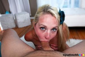 Beautiful blonde babe in blue underwear  - XXX Dessert - Picture 8