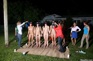 A group of naked girls with blindfolds h - XXX Dessert - Picture 4
