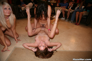 Senior student girls jeering the lesbian - Picture 12