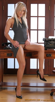 hot secretary undresses her