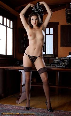 Hot brunette in black stockings gets nak - XXX Dessert - Picture 10